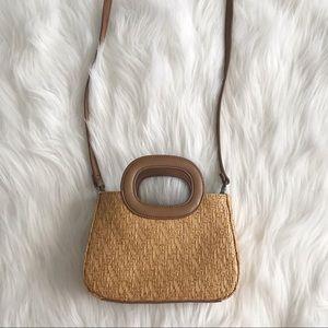 FOSSIL Woven Basket Crossbody Bag